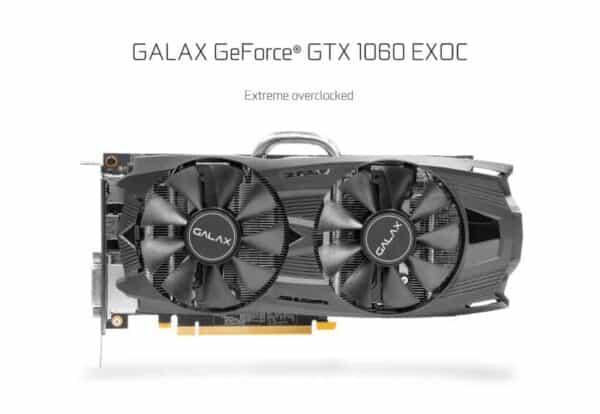GALAX GTX 1060 6GB EXOC การ์ดจอมือสอง