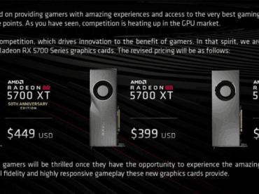 AMD ประกาศลดราคา RX 5700 Series